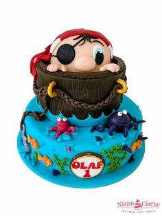 Pirat, tort z piratem, pirat na torcie, torty bajkowe, torty urodzinowe dla dzieci, urodziny dziecka, dziecko, Tarnów