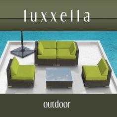 $1150 Amazon.com: Genuine Luxxella Outdoor Patio Furniture Wicker Contemporary Sofa Sectional BELLA 5pc Set PERIDOT: Patio, Lawn & Garden