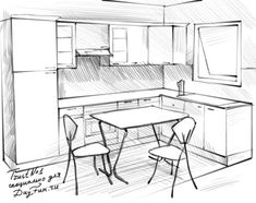 Cheap Home Decorations For Sale Perspective Drawing Lessons, Perspective Sketch, Drawing Interior, Interior Design Sketches, Cafe Interior, Interior Paint, Background Drawing, Object Drawing, Pencil Art Drawings