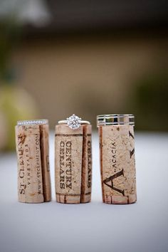 #Rings - I have the corks from Addie's engagement celebration from when she told Lauren & I. I will get her a pic like this on her wedding day.