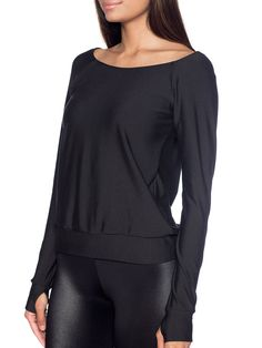 Black Off the Shoulder Sweater (AU $70AUD / US $56USD) by Black Milk Clothing