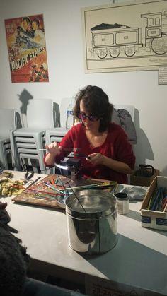 Musée de Vierzon JEP 2016 Valérie Vayre artisan d'art verrier en démonstration.