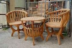 Jati Furniture Minimalis: KURSI DAN MEJA MANGKOK