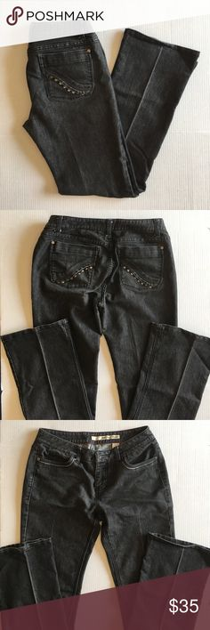 """DKNY Gray Straight Leg Jeans You can never have too many pairs of jeans!   These great looking Straight Leg Jeans will make you feel like a million bucks. Perfect for any occasion.  Measurements:  Length - 39.5""""/Waist - 14.5""""/Inseam - 30.5""""/Rise - 9"""" Dkny Jeans Straight Leg"""