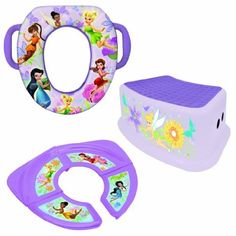 Disney Soft Potty, Travel Potty and Step Stool Combo Set, Fairies