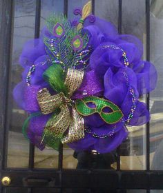 Lots of ideas here for decorating for Mardi Gras