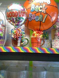 Sports candy baskets
