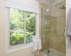 New sliding window we installed in this beautiful bathroom . Home Remodeling / Renovation / Home Improvement / Replacement Window from Renewal by Andersen Long Island New York Homes, Remodeling Renovation, White Windows, Home Remodeling, House Styles, Sliding Windows, Modern Bathroom, Bathroom Decor, Easy Bathroom Decorating