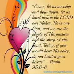 Psalm 95:6-8