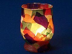 Windlicht aus altem Trinkglas