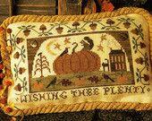 Wishing Thee Plenty~Cross Stitch Pattern