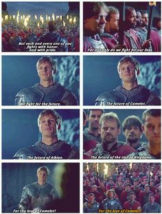 """""""For the future"""" - See? Albion came to be, even if Arthur wasn't there to see it."""