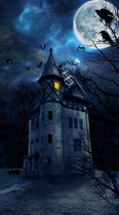 Below are the Halloween Wallpaper Night. This post about Halloween Wallpaper Night was posted under the Halloween Wallpaper category by our team at October 2019 at pm. Hope you enjoy it and don& forget to share this post. Creepy Houses, Spooky House, Halloween Haunted Houses, Halloween Pictures, Spooky Halloween, Vintage Halloween, Halloween Crafts, Halloween Costumes, Halloween Night