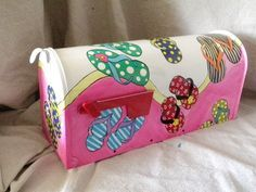 Hand painted Mailbox Flip flop frenzie by gonepostal09 on Etsy, $85.00