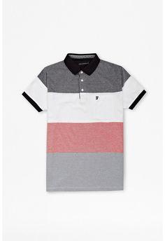 Oxford Stripe Polo Shirt