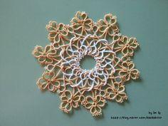 no 52. Celtic Tatting - Tatted Shamrock Wreath : 네이버 블로그