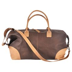 Donovan Leather Weekender in Tan at Joss and Main