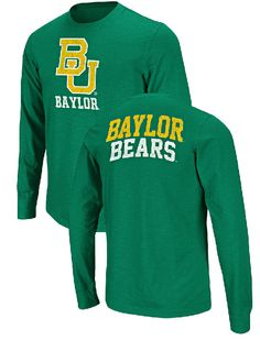Baylor Bears Green 2-Sided Touchdown Long Sleeve T Shirt by Colosseum