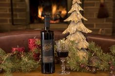 Tall Dark Stranger Malbec, our total dream wine, all decked out for the holidays: Holidays And Events, Make Me Smile, Red Wine, Lush, Berries, Candles, Texture, Dark, How To Make