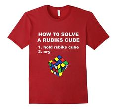 Rubiks Cube T Shirt | Cuber Tee | Rubiks Cube Gifts #rubikscube #cuber #rubiks #80s