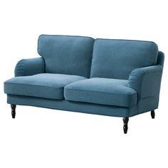 STOCKSUND Sofa dwuosobowa - Ljungen niebieski, czarny - IKEA