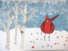 Charley Harper Cardinal Art Lesson