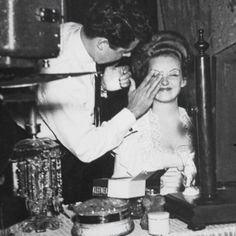 Bette Davis being made up for THE LITTLE FOXES
