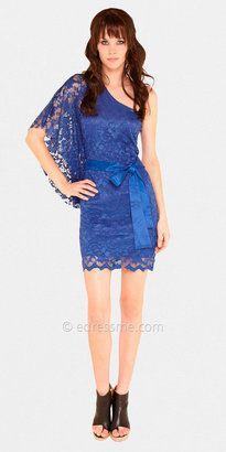 ShopStyle:+One+Shoulder+Kimono+Club+Dresses+by+Sentimental+NY