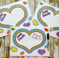 Autograph Clings - Rainbow Heart