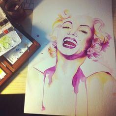 Watercolor /Marilyn Monroe