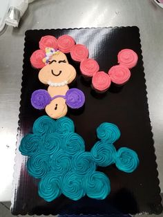 Mermaid Pull Apart Cupcake Cake Cake Decorating