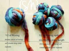 Welcome to another Mom sponsored spinning experiment. It should be said that with only 3 handspun skeins under my belt, everything I do with fiber and spindle is an experiment, which makes it all double the fun! I've been reading about spinning 'fractally', which is the process of splitting a roving with color variegation in half – spinning …