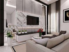 Tv Wall Decor, Living Room Tv, Surabaya, Luxury Living, Living Room Designs, Modern Design, Neutral, Led, Interior