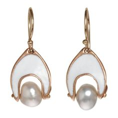 Enamel and Keshi pearl