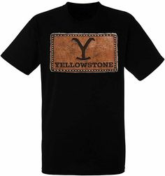 Yellowstone Leather Patch Logo TV Show Kevin Costner Drama Western T Shirt 66-27 - T-Shirts Leather T Shirt, Logo Tv, Kevin Costner, Tv Shows, Patches, Drama, Mens Tops, Shirts, Dramas
