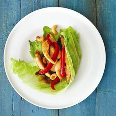 Try this low-cal, carb-free recipe for Hoisin chicken in lettuce cups. Find more Asian-inspired dinner ideas at Chatelaine.com.