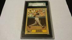 Graded 1987 Topps Barry Bonds single baseball rookie card