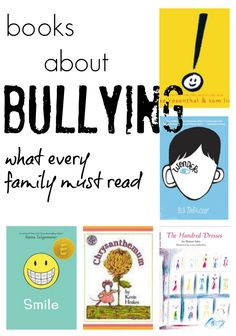 October is Bullying Prevention Month, and books are a great way to start the conversation.#RaiseaReader blog has books for all ages about #bullying that every family should read: