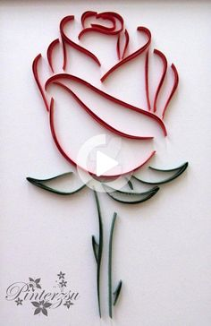 Quilled rose by pinterzsu Quilled Roses, Paper Quilling Flowers, Paper Quilling Patterns, Quilled Paper Art, Quilling Paper Craft, Paper Crafts, Quilling Comb, Neli Quilling, Quilling Ideas