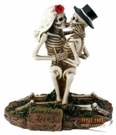 Love Never Dies Collectible Skeleton Sculpture Free Shipping