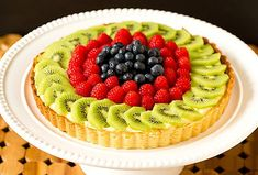 Fresh Fruit Tart with Pastry Cream. Use whatever fruits are available this season. [Brown Eyed Baker]