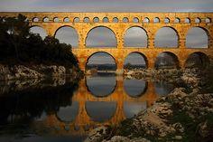 Pont du Gard en or (par Boccalupo)