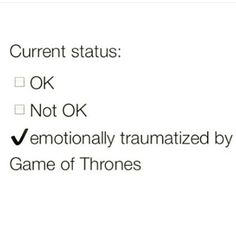 Game of Thrones, I'm lost for words. I'm so hurt, I knew this was going to happen!! I'm so in shock that the tears can't come out. I'm sooooo fucked up over this! Its Ned Stark all over again, I'm officially going to be depressed for the next couple of days. Sighs... Say it ain't so!!!! #gameofthrones #hbo #fanGirl