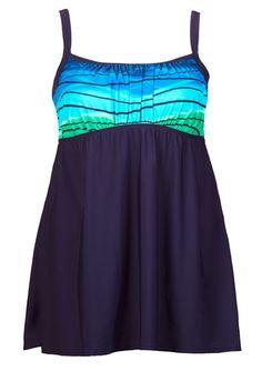 b4538c7289 Ocean Motion Plus Size Swimdress from Delta Burke® Old Lady Swimsuit