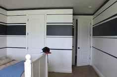 My Son Jackson's room has had blank white walls for a year now and it was time to change that! I was inspired by this picture I found on H...