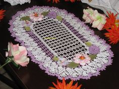 Free shipping Brand new oval crochet doily with by KroneCrochet, $41.99