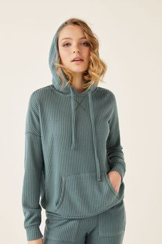 Womensecret Waffle-effect sweatshirt green