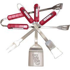 BSI Products Ncaa South Carolina Gamecocks 4-Piece Grill Tool Set