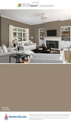 I found this color with ColorSnap® Visualizer for iPhone by Sherwin-Williams: Curio Gray (SW 0024).