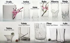 10 models of vases produced by Iittala produced by Iittala in the seventies…